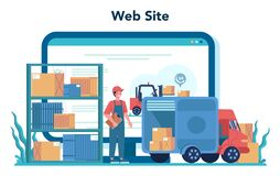 Free Logistic And Delivery Service Online Service Or Platform. Idea Of Stock Images - 192474304