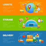 Logistic Banner Set Royalty Free Stock Images