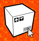 Logistic box icon Royalty Free Stock Images
