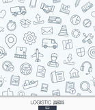 Logistic business wallpaper. Delivery and distribution seamless pattern. Stock Photography