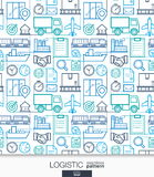 Logistic business wallpaper. Delivery and distribution seamless pattern. Royalty Free Stock Image