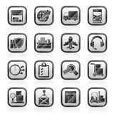Logistic, cargo and transportation icons Royalty Free Stock Photography