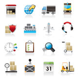 Logistic, cargo and transportation icons Stock Photo