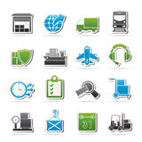 Logistic, cargo and transportation icons Royalty Free Stock Photo