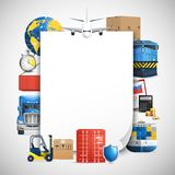 Logistic Colored Composition Royalty Free Stock Image