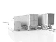Logistic concept. 3d rendering Royalty Free Stock Photos