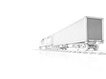 Logistic concept. 3d rendering Stock Photos