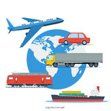 Logistic Concept with Transport Stock Photos