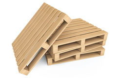 Logistic concept. Wooden pallets Royalty Free Stock Photo