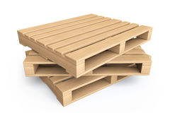Logistic concept. Wooden pallets Royalty Free Stock Photography