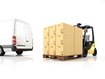 Logistic. 3d rendering Stock Image