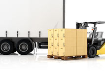 Logistic. 3d rendering Royalty Free Stock Images