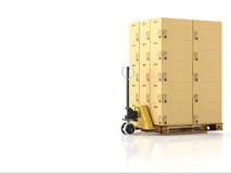 Logistic. 3d rendering Royalty Free Stock Photo