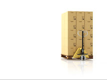 Logistic. 3d rendering Stock Photography