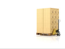 Logistic. 3d rendering Royalty Free Stock Image