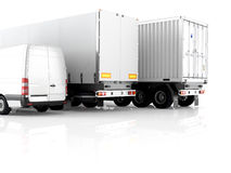 Logistic. 3d rendering Royalty Free Stock Photos