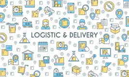 Logistic and delivery banner Royalty Free Stock Image