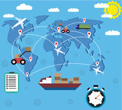 Logistic delivery concept Royalty Free Stock Image