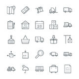 Logistic Delivery Cool Vector Icons 1 Royalty Free Stock Photography