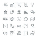 Logistic Delivery Cool Vector Icons 3 Stock Images