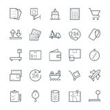 Logistic Delivery Cool Vector Icons 2 Royalty Free Stock Photos