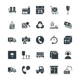 Logistic Delivery Cool Vector Icons 3 Royalty Free Stock Photography