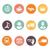 Logistic and delivery icons Stock Image