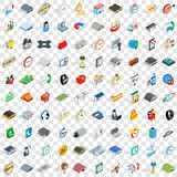 100 logistic delivery icons set, isometric style Royalty Free Stock Photography