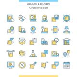 Logistic and delivery icons set Royalty Free Stock Photo