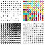 100 logistic and delivery icons set vector variant. 100 logistic and delivery icons set vector in 4 variant for any web design isolated on white Royalty Free Stock Image