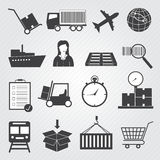 Logistic and  Delivery Icons Vector Set Royalty Free Stock Photography