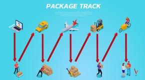 Logistic Delivery Isometric Horizontal Illustration stock illustration