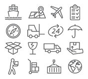 Logistic and Delivery line icons Stock Photo