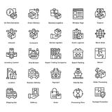 Logistic Delivery Line Vector Icons Set 1 Royalty Free Stock Photos