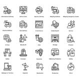 Logistic Delivery Line Vector Icons Set 9 Royalty Free Stock Photo