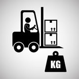 Logistic design. Shipping and Delivery conception Stock Image