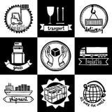 Logistic Emblems Set royalty free illustration