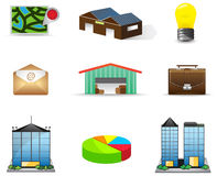 Logistic and estate icon collection set Stock Image