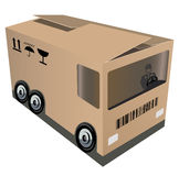 Logistic. Or example of packing design for a company engaging in Stock Photo