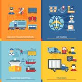 Logistic Flat Concept Stock Images
