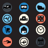 Logistic flat icon in  Stock Images