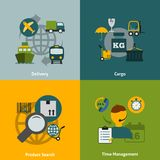 Logistic flat icons composition Stock Photo