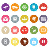 Logistic flat icons on white background Stock Photos