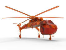 Logistic helicopter. 3D render illustration of a logistic helicopter. The composition is isolated on a white background with shadows Stock Images