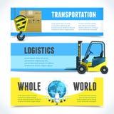 Logistic horizontal banners Stock Image