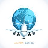 Logistic icon airplane Stock Photo