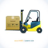 Logistic icon forklift Stock Photos