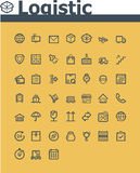 Logistic icon set. Set of the simple logistic related icons Stock Images