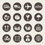 Logistic icon set Royalty Free Stock Images