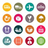 Logistic icon set stock illustration